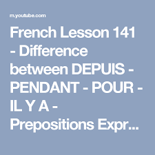french lesson 141 difference between