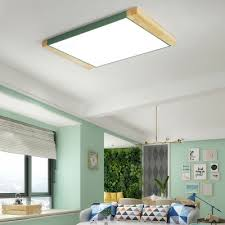warm white square flush mount light