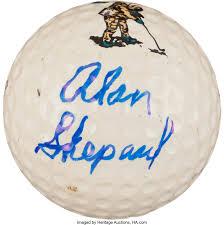 Alan Shepard Signed Golf Ball.... Golf Collectibles Autographs   Lot #43207