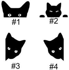 Black Cat Peek A Boo Cats Car Truck Auto Vinyl Decal Sticker Graphic Your Choice Ebay