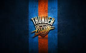 oklahoma city thunder golden logo nba