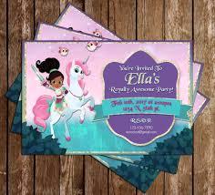 Nella The Princess Knight Birthday Party Invitation En 2019
