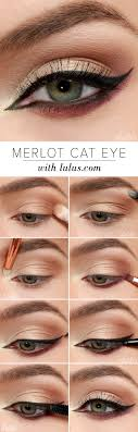 how to do your makeup like cat eyes
