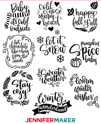 Diy Vinyl Decals For Tumblers Cozy Fall Winter Sayings Jennifer Maker