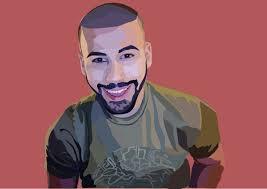 Vector drawing of Adam Saleh on Behance