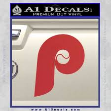 Phillies Decal Sticker Philadelphia Retro A1 Decals