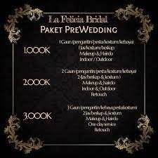 Price List by La FELICIA | Bridestory.com