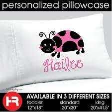 pink ladybug pillowcase girls