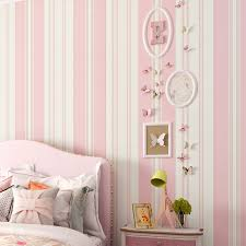 Children Room Wallpaper Kids Bedroom Romantic Pink Princess Room Environmental Protection Non Woven Blue Stripe Wall Paper Rolls Wallpapers Aliexpress