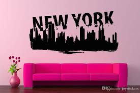 Wall Vinyl Sticker Room Decals Mural Design New York City Skyline Ny Usa Decal House Decal Stickers From Joystickers 10 76 Dhgate Com