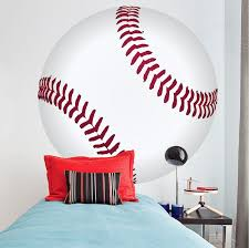 Large Baseball Wall Decal Sports Decor Boys Bedroom Wall Art Baseballs American Wall Designs