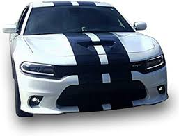 Amazon Com 1x Full Stripe Kit Decal Sticker Graphic Compatible With Dodge Charger Arts Crafts Sewing
