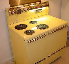 vintage general electric stove parts as