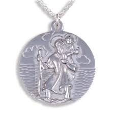 st christopher pendant tin 25 25