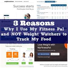 my fitness pal and not weight watchers