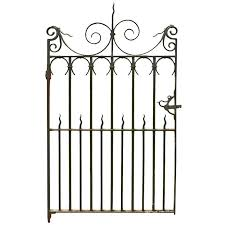 Antique Wrought Iron Pedestrian Gate Circa 1900 Wrought Iron Iron Doors Antiques