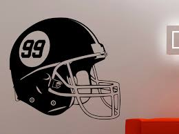Football Helmet Wall Decal Vinyl Sticker Sports Art Home Interior Decorations Kids Boys Room Bedroom Gym Studio Decor A155 Interior Decor Boys Roomvinyl Stickers Aliexpress