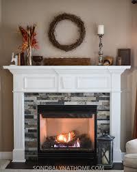 stick stone fireplace surround
