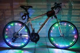 dây đèn led gài nan hoa xe đạp ánh sáng bảy màu