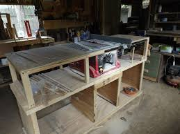 Built In Lightweight Table Saw And Added A Delta Fence System Work Bench And Storage I Like It Woodworking