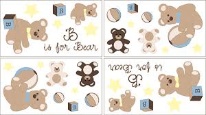 Chocolate Teddy Bear Baby And Kids Wall Decal Stickers Set Of 4 Sheets Only 24 99