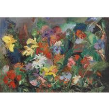 Helene Smith, (American, 20th Century), Garden Corner, oil o