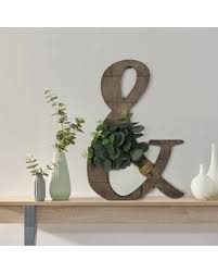 Remarkable Deals On Ampersand With Greenery 13 Inch X 18 5 Inch Wall Art