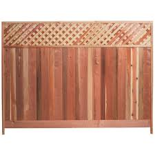 Mendocino Forest Products 6 Ft H X 8 Ft W Redwood Lattice Top Fence Panel 01337 The Home Depot