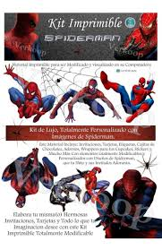 Kit Imprimible Spiderman El Hombre Arana Invitaciones 650 00