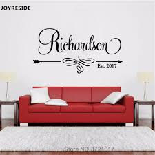 Personalized Custom Family Names With Year Vinyl Wall Decal Stickers Decor