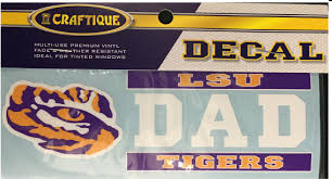 Lsu Tigers 6 Premium Vinyl Dad Bar Design Decal Purple And Gold Sports