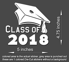 4x Class Of 2018 Graduation Vinyl Sticker Decal Car Window Truck Lap Stickerboy Skins For Protecting Your Mobile Device