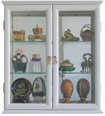 small wall mounted curio cabinet