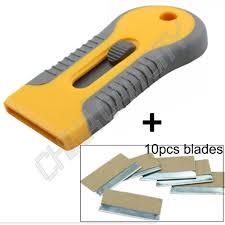 Car Sticker Remover Razor Blade Spatula Scraper Window Tint Tools Utility Knife Replaceable Double Sided Razor Blade E16 Sticker Removal Car Wash Car Stickers