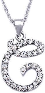 initial letter c pendant necklace women