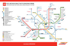 Transit Maps: Official Map: Milan Metro and Suburban Rail Service ...