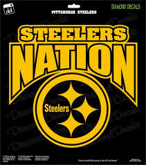Pittsburgh Steelers Nation Nfl Football Champs Gold Vinyl Decal Car Window Diamonddecalz Pittsburgh Steelers Pittsburgh Steelers Wallpaper Steeler Nation