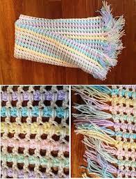 Ravelry: Rainbow Baby Blanket with Tassles pattern by Hilary Renshaw ♡  Teresa Restegui http://www.pinterest.com/tere… | Fazer croche, Fazer  cachecois, Manta de bebe