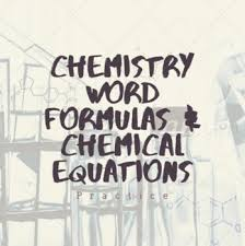 chemical equation writing practice