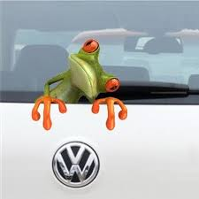1pcs Funny 3d Peep Frogs Car Styling Stickers Funny Animal Car Stickers Window Decal For All Cars Wish