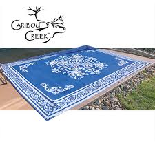 blue white outdoor rug 8x11