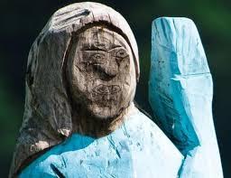 Slovenia erects chainsaw hewn Melania Trump statue, internet ...