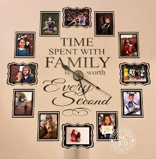 Time Spent With Family Clock Decal Large Family Photo Wall Etsy In 2020 Family Clock Photo Wall Clocks Wall Decal Clock