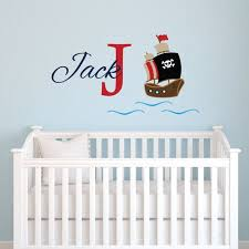 Personalized Pirates Ship Wall Decal For Boys Pirate Name Etsy In 2020 Nursery Monogram Wall Decor Bedroom Vinyl Wall Decals