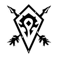 Horde Symbol World Of Warcraft 3 By 5 Inch Vinyl Decal Sticker For Sale Online Ebay