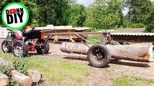 homemade atv log trailer arch you