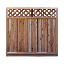 6 Wood Fence Panels Wood Fencing The Home Depot