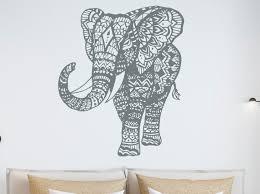 Wall Decal Elephant Vinyl Sticker Elephant Art Decals Etsy