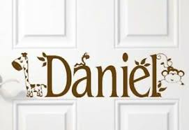 Personalized Jungle Giraffe Door Sign Vinyl Wall Decal Children S Kids Room Art Ebay
