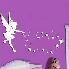 Mirror Surface Wall Sticker Butterfly Fairy Wall Stickers Girls Bedroom Walls Kid Girl Removable Decor Art Home Mural Crafts Wall Stickers Aliexpress